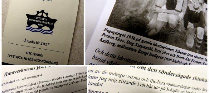 """Årsskrift 2017 """"Olika tidsepoker i bygden""""  är nu utgiven…"""