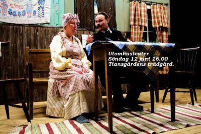 Pigan Lovisa (Ann-Krisitn Elgan) blir chockad när länsman Rapp (Jan Nylander text