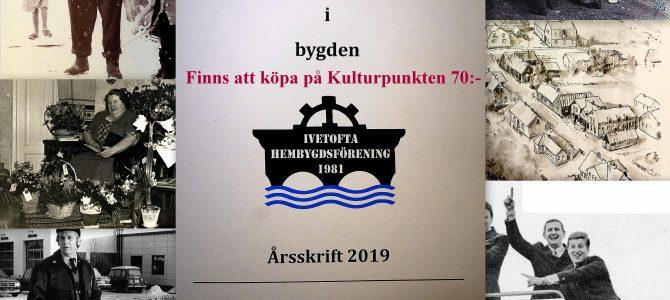 """Årsskrift 2019 """"En tidresa i bygden"""" är nu utgiven…"""