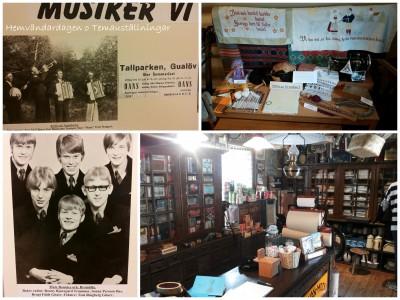 """Årets tema var """"Så lekte vi förr, gamla leksaker."""" På Tiansgården visades fotoutställningen """"Musiker vi minns"""" av Karl Erik Nilsson från Valje."""