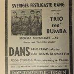 Annons Valje Nöje 60 talet