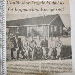 Gualövsbor byggde klubbstugan 1982