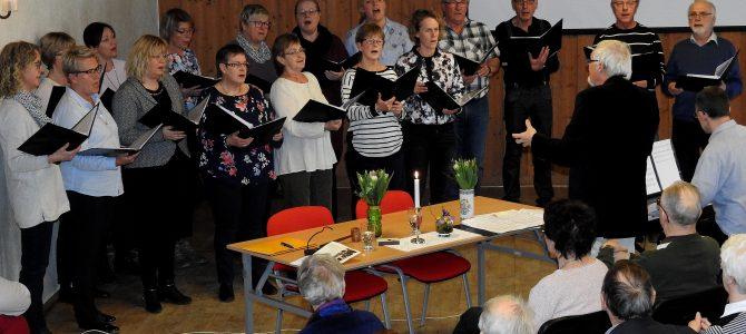 Copy Singers sjöng in våren på Ivetofta hembygdsförening årsmöte 2018